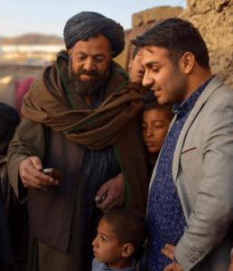 Nasrat Khalid at an Internally Displaced People (IDP) camp outside of Kabul, Afghanistan.
